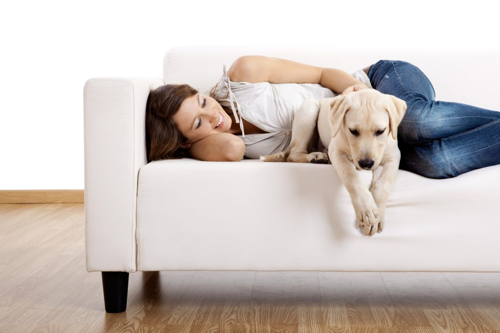 Girl with her dog